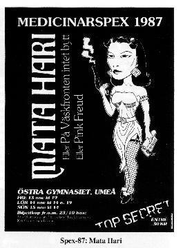 1987 Mata Hari affisch